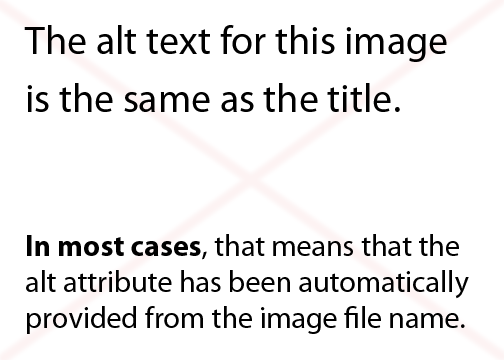 The alt text for this image is the same as the title. In most cases, that means that the alt attribute has been automatically provided from the image file name.